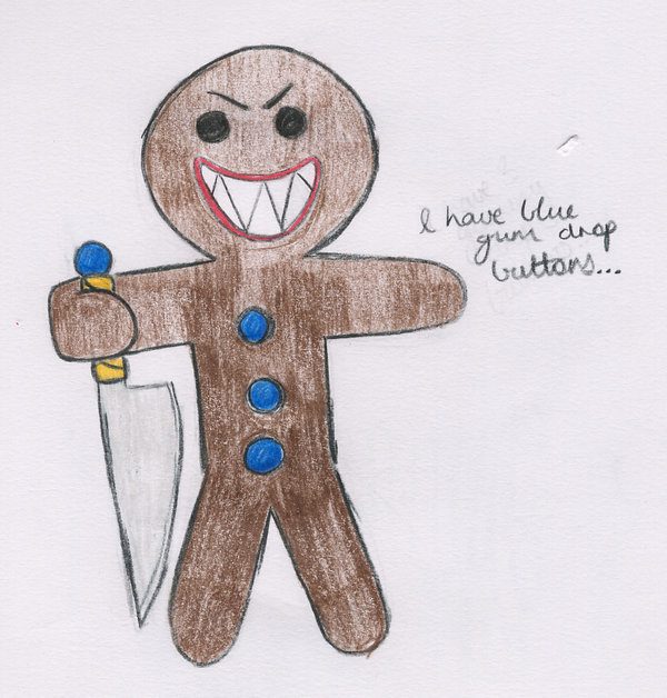 600x628 Evil Gingerbread Man By Lovlie