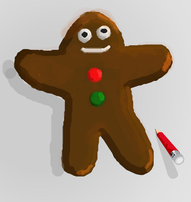 670x709 How To Draw A Gingerbread Man A Christmas Project For Kids Art
