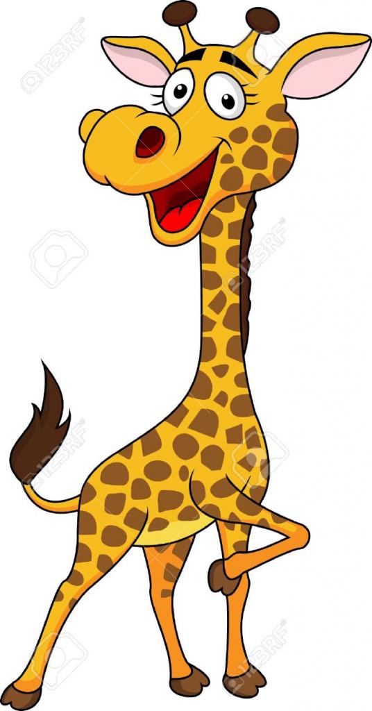 536x1024 Cartoon Drawing Giraffe Cute Giraffe Cartoon Royalty Free Cliparts