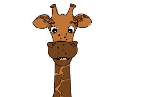 300x200 How To Draw A Cartoon Giraffe