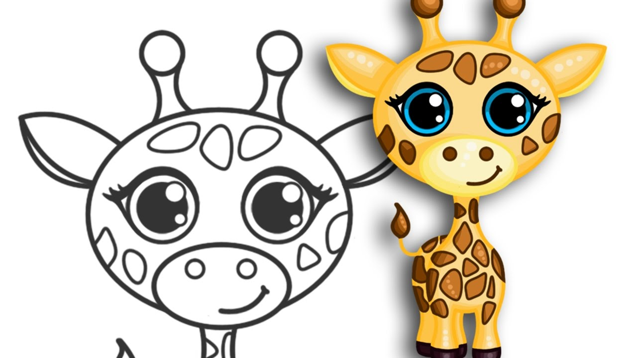 1280x720 How To Draw A Giraffe Super Cute Amp Easy Step By Step Drawing