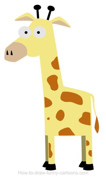 350x592 A Giraffe Cartoon