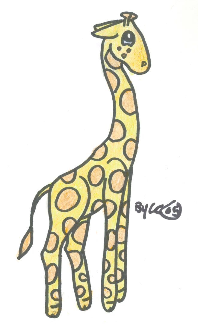 661x1083 Cute Art Giraffe By Sassyfrazzy