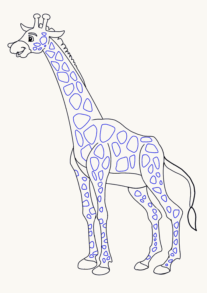 680x962 How To Draw A Giraffe In A Few Easy Steps Easy Drawing Guides