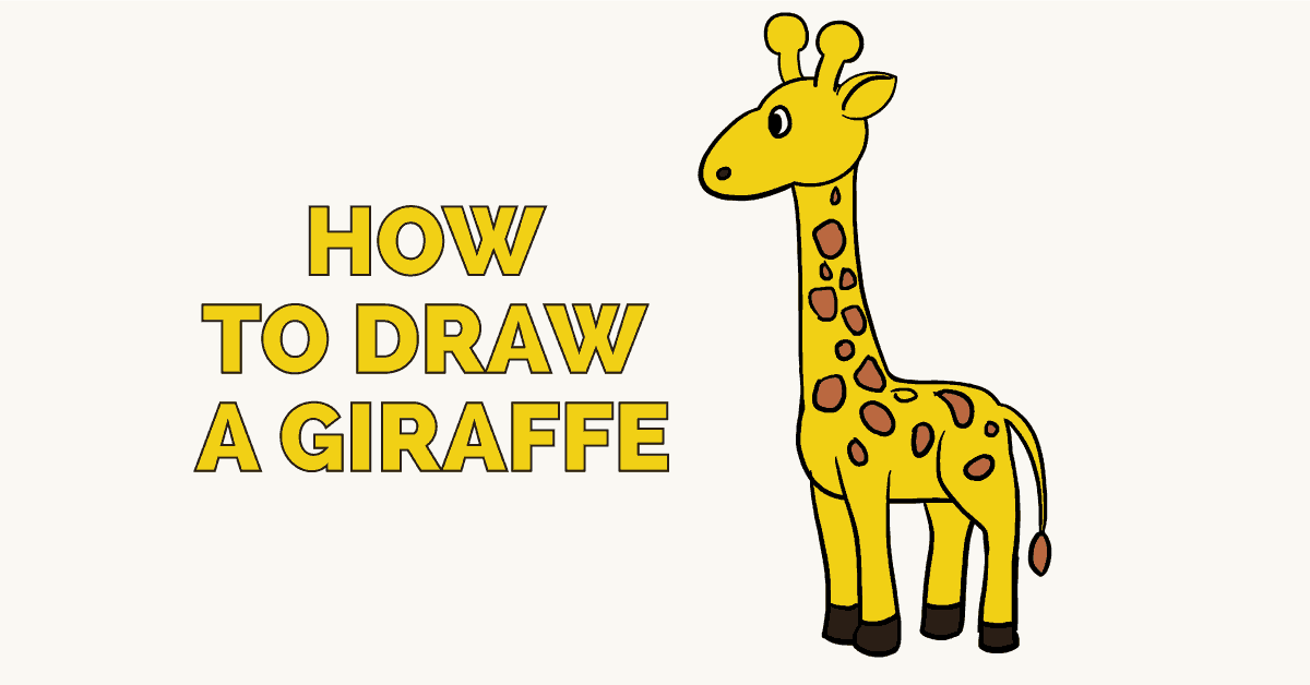 1200x628 How To Draw A Giraffe Really Easy Drawing Tutorial