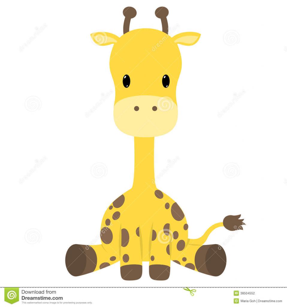958x1024 Cartoon Giraffe Drawings Cute Baby Giraffe Cartoon Stock Photos
