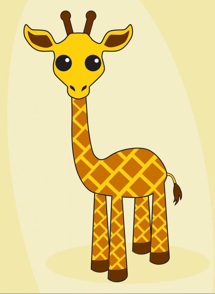 751x1024 Cartoon Giraffe Drawings Giraffe Drawing Cartoon Giraffe Drawing