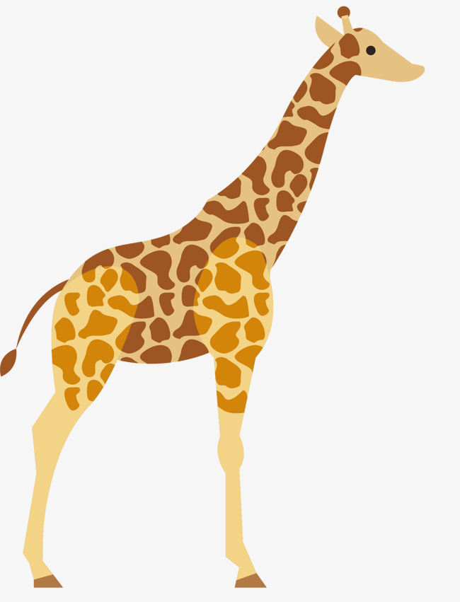 650x851 Cartoon Giraffe Vector, Giraffe, Cartoon Hand Drawing, Cartoon