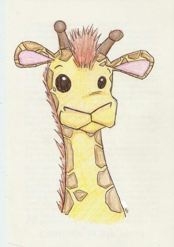600x850 Cute Giraffe Drawing Adorable Drawings Giraffe