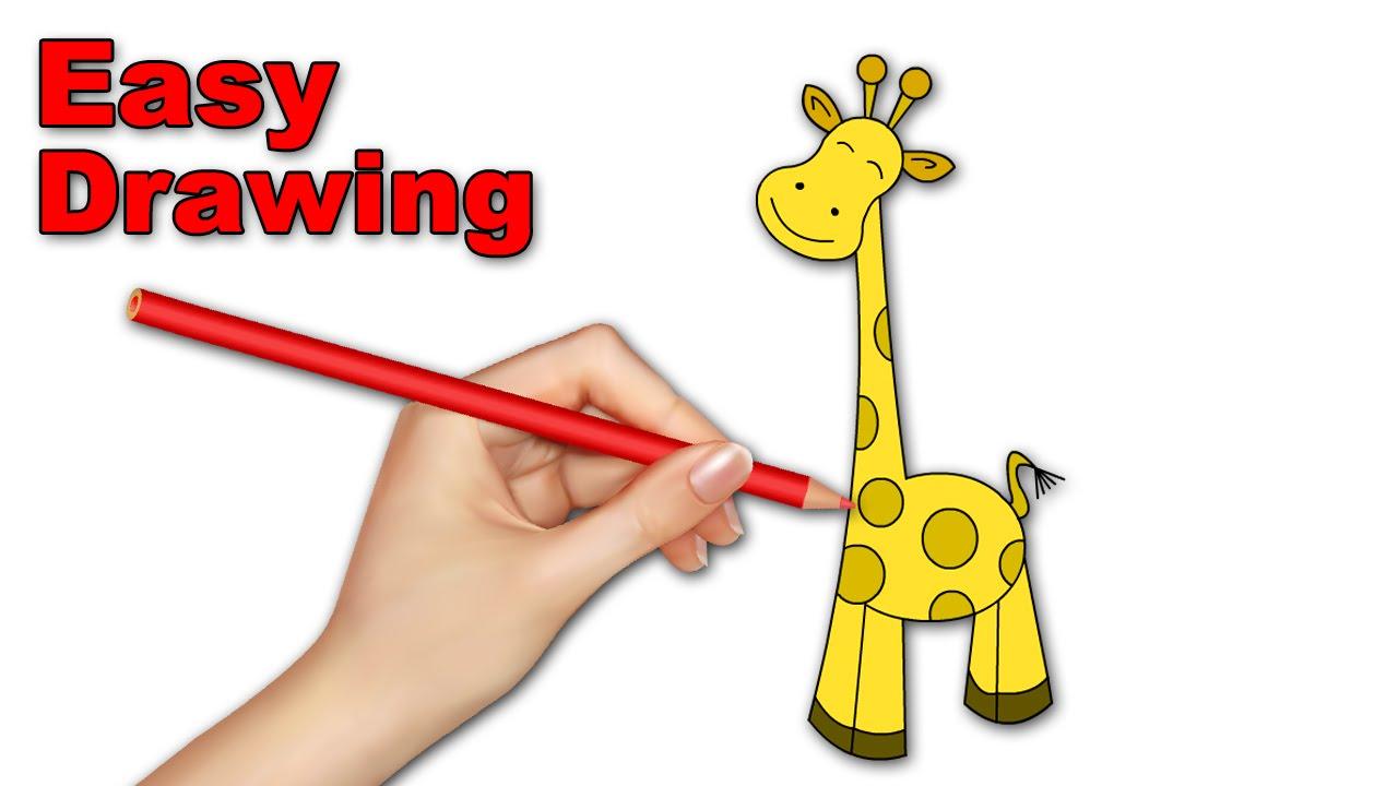 1280x720 How To Draw Giraffe Cartoons For Kids