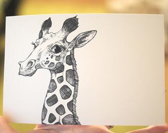 340x270 Giraffe Art Etsy