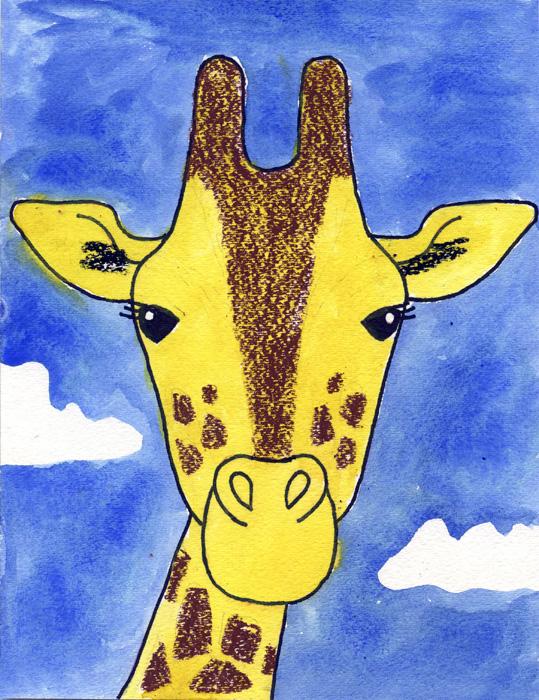 539x700 How To Draw A Giraffe