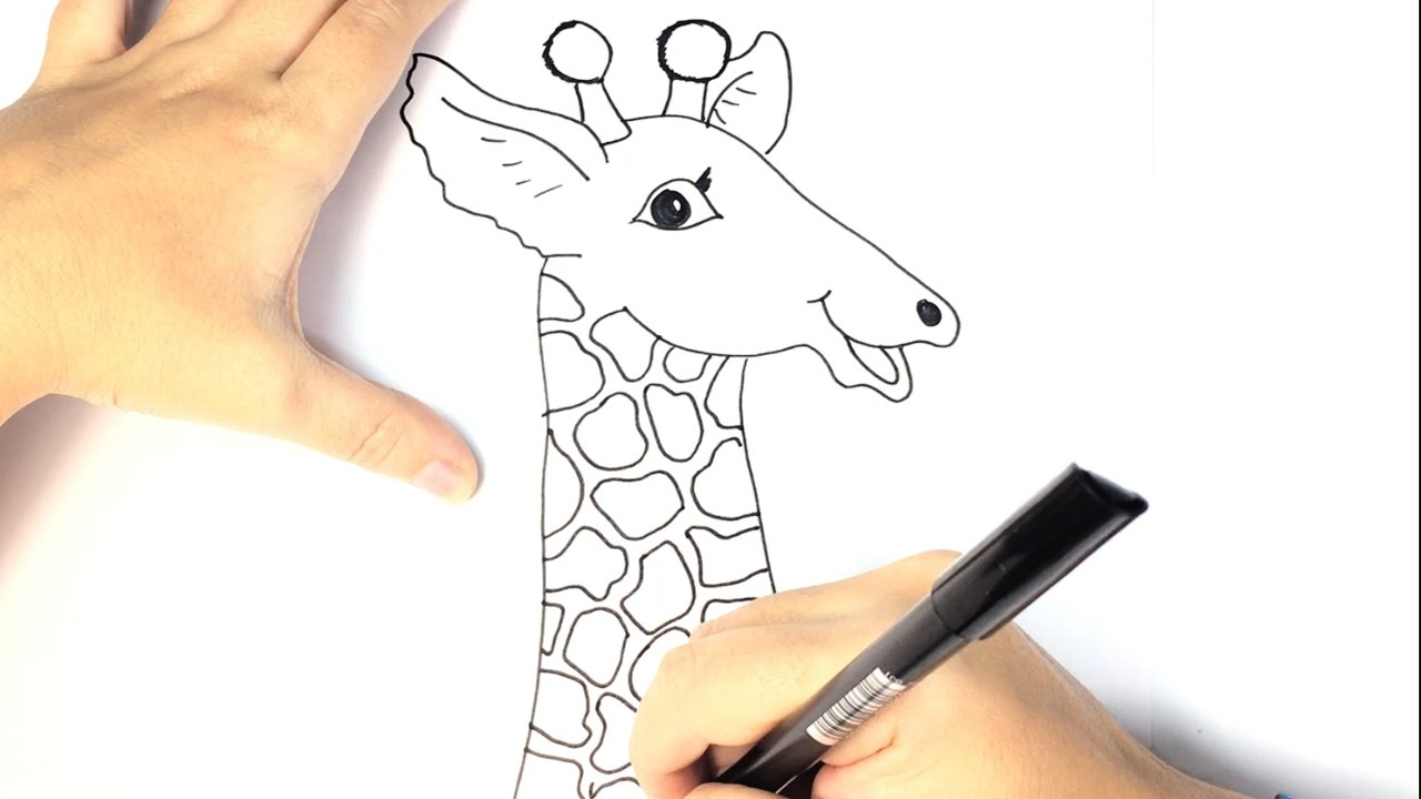 1280x720 How To Draw A Giraffe For Kids