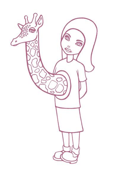 419x600 Tara Mcpherson Art Art Prints Line Art Serigraphs Giraffe Girl