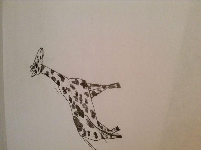 670x500 2 Simple Ways To Draw A Giraffe Step By Step