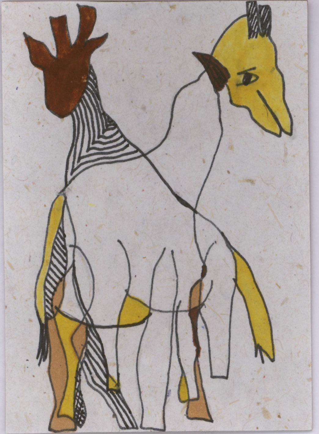 1044x1417 Accidental Artist Creative Lab Exercise 2 Blind Contour Giraffes