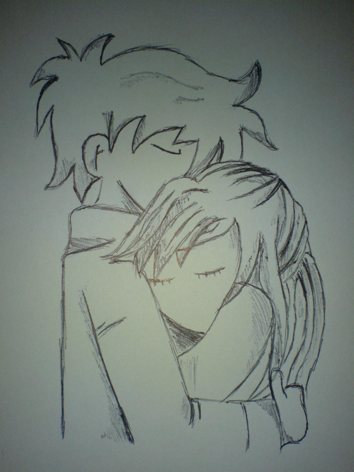 1224x1632 Boy And Girl Hugging Drawing Cute Sketching Boy And Girl Pic