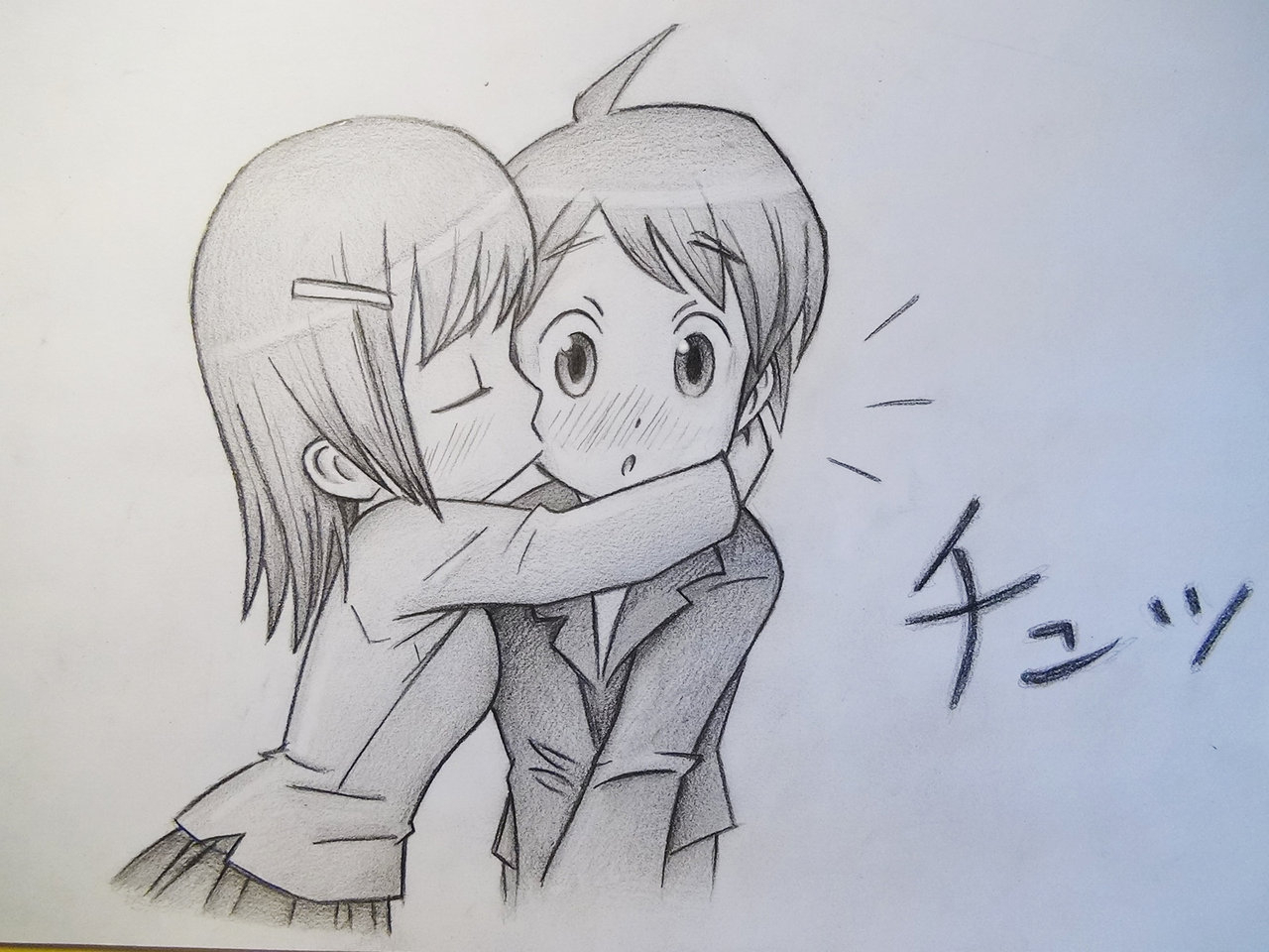1280x960 Sketch Image Boy And Girl Kissing Drawn Kissing First Kiss