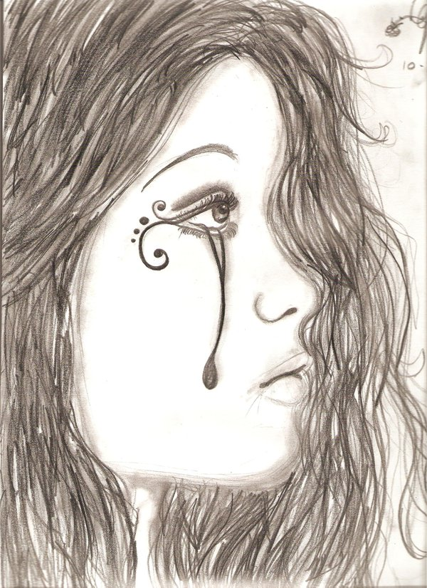 600x826 Girl Crying By Favole13 Diy, Art, Craft Crying