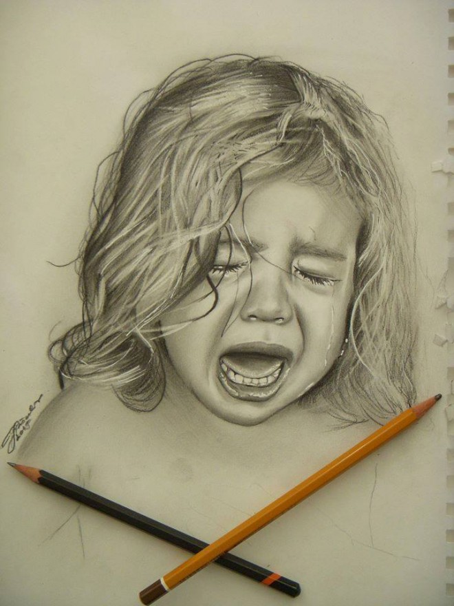 660x880 girl pencil drawing girl crying realistic pencil drawing josip art