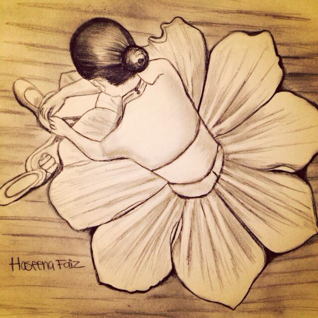640x640 Drawing Of Girl Dancing By Haseena Faiz Haseena Faiz
