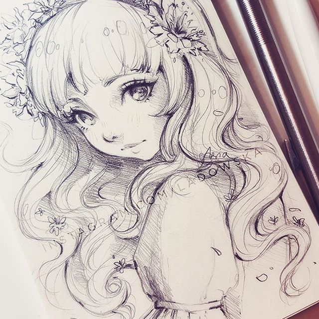 640x640 gallery anime girl drawing ideas