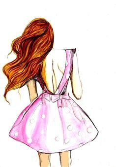 Girl Drawing Dress At Getdrawingscom Free For Personal