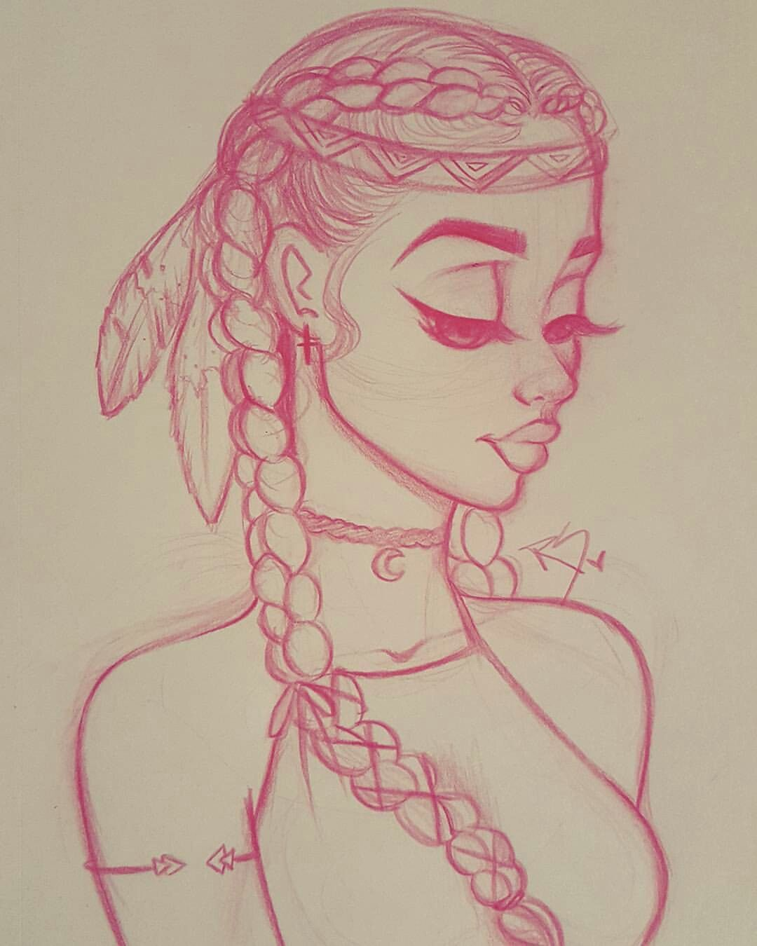 1080x1350 Native American, Cute, Simple Drawing From Christina Lorre