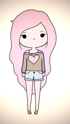 236x421 Pictures Simple Cute Girl Drawing,