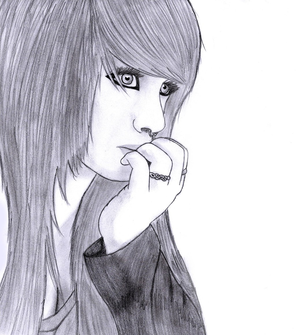 1024x1157 Scene Girl Drawing 5 By On @