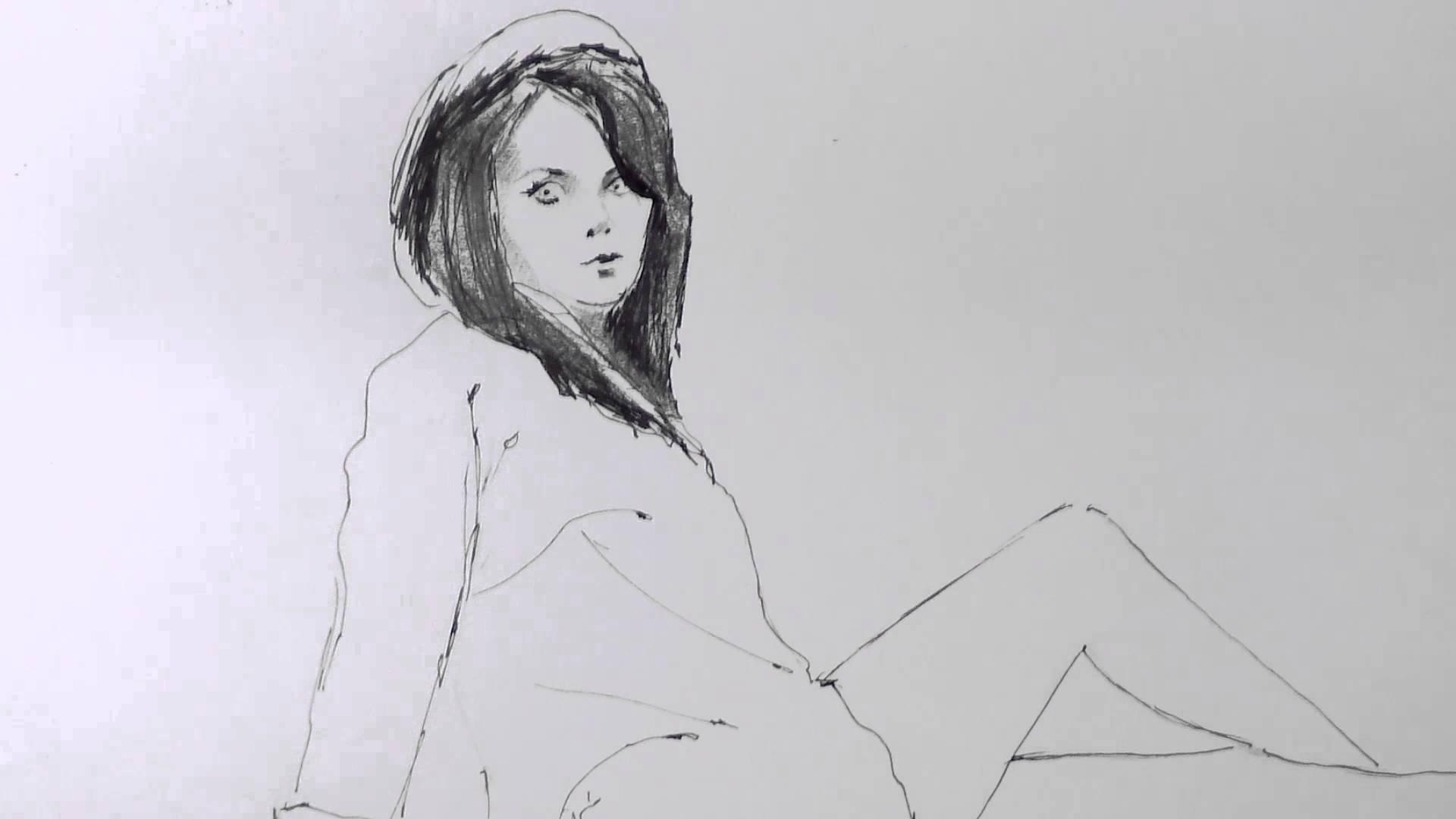 1920x1080 Tumblr Cute Girl Drawing