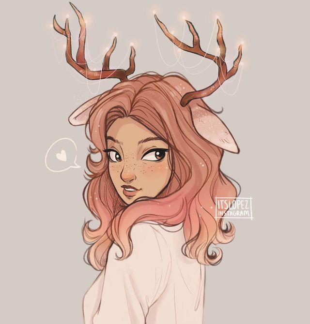 640x670 Rudolph Girl! Drawings Drawings, Girls And Characters
