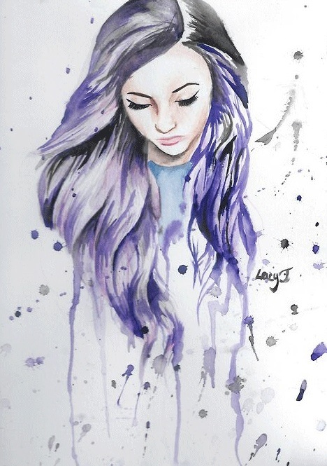 468x665 I Love Colour Of Her Hair And Paint Splats Around