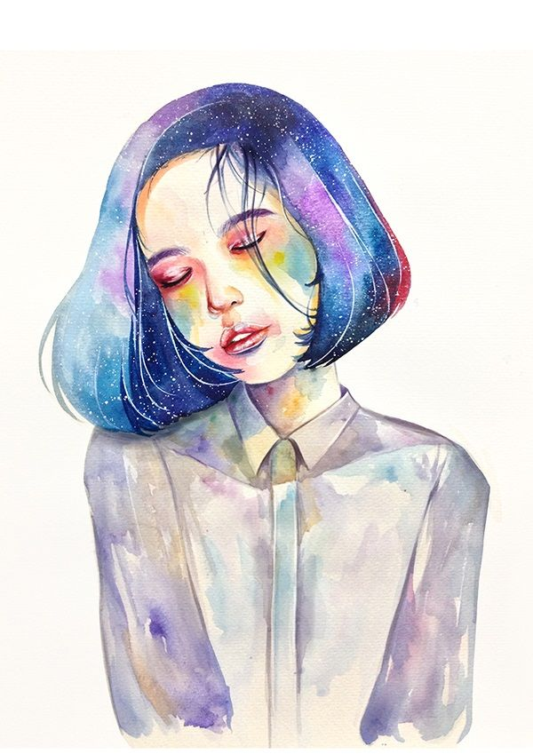 600x849 Pictures The Watercolor Girl,