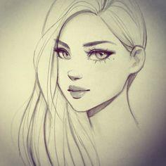 236x236 A Simple And Pretty Drawing Pretty Woman Pretty