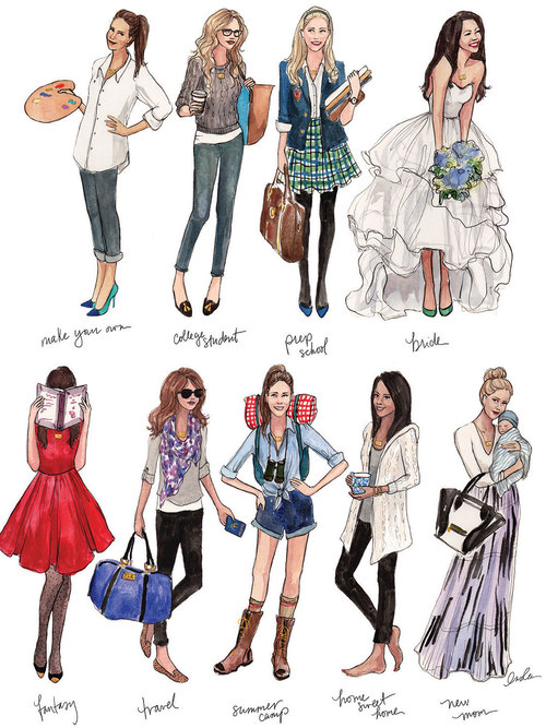 500x667 The Sketch Book Inslee Haynes Fashion Illustration By Inslee