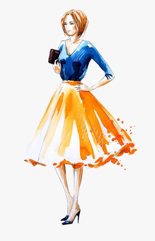 650x1012 Fashion Model, Anime Girl, Drawing Girls, Hand Drawn Sketch Png