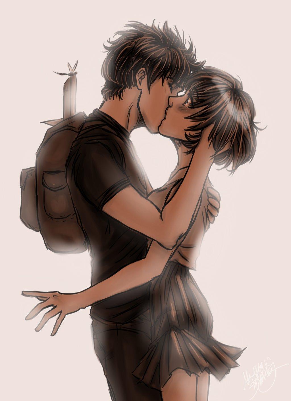 1024x1413 Cute Pics Of Boy And Girl Hugging Korean Cartoon Drawing Emo