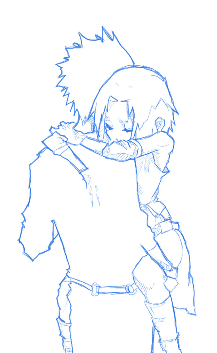 701x1139 Unfinished Manga Sketch With Boy And Girl Hugging By Alexnjoy