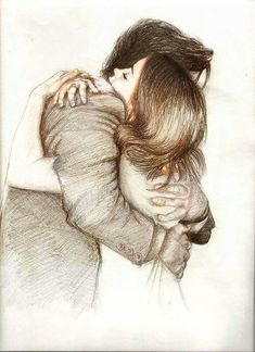 235x324 Art, Boy, Drawing, Galaxy, Girl, Hug, Illustration, Space