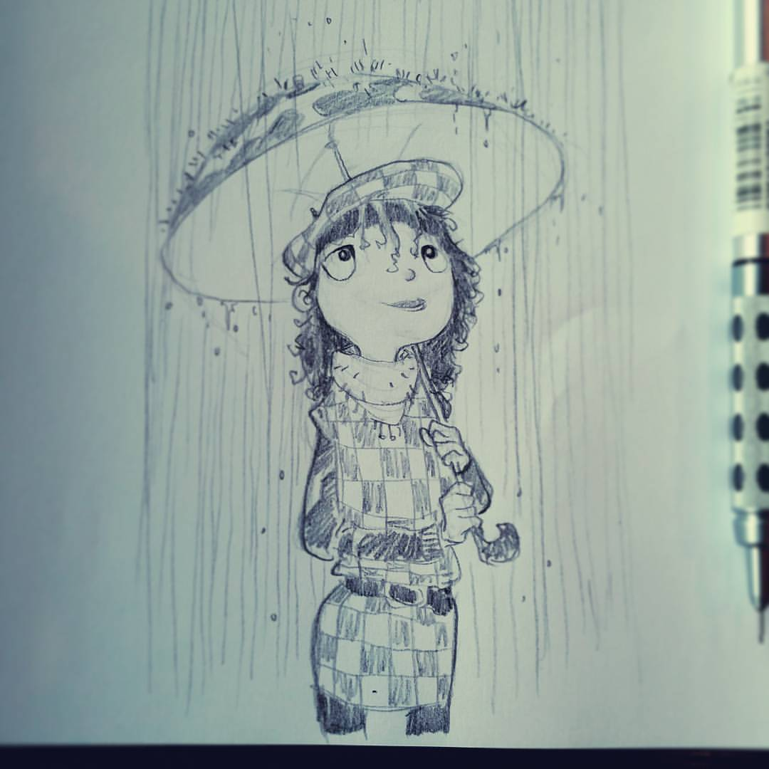 1080x1080 Cartoonist And Designer A Much Needed Rainy Day In La. So Happy