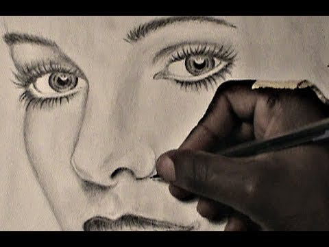 480x360 How To Draw Female Eyes Nose And Lips