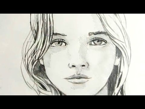 480x360 How To Draw A Female Face Time Lapse