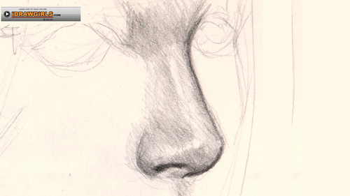 500x281 How To Draw Nose Side View