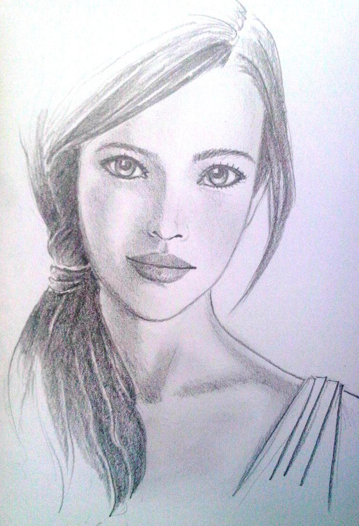 Pencil Sketch Girl Pic