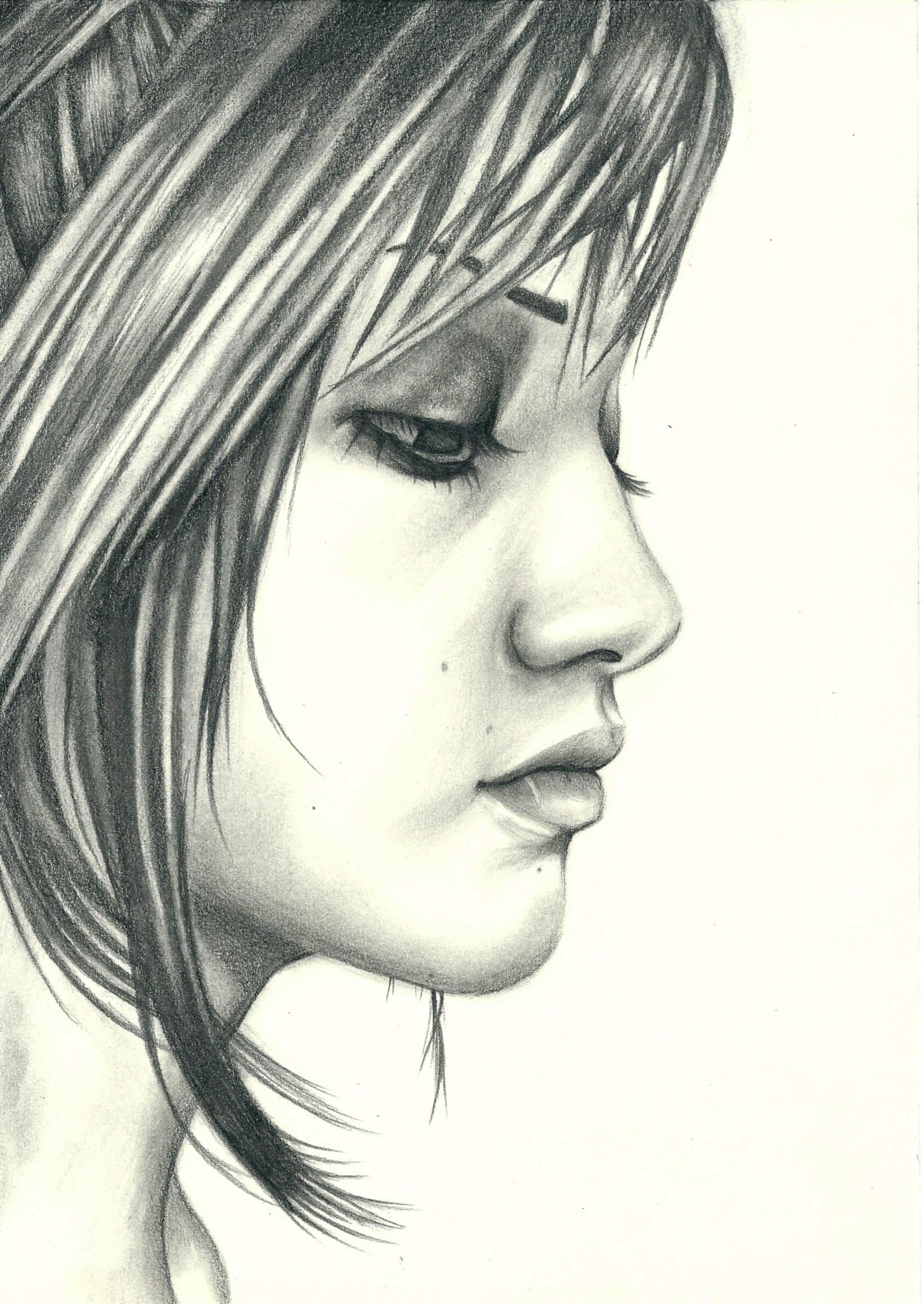 1640x2315 Girl Profile Drawing Profile Sammy's Art