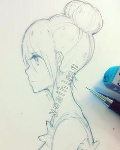 236x294 Girl Side View Sketch By Bunsyo On Art Stuff Lt3