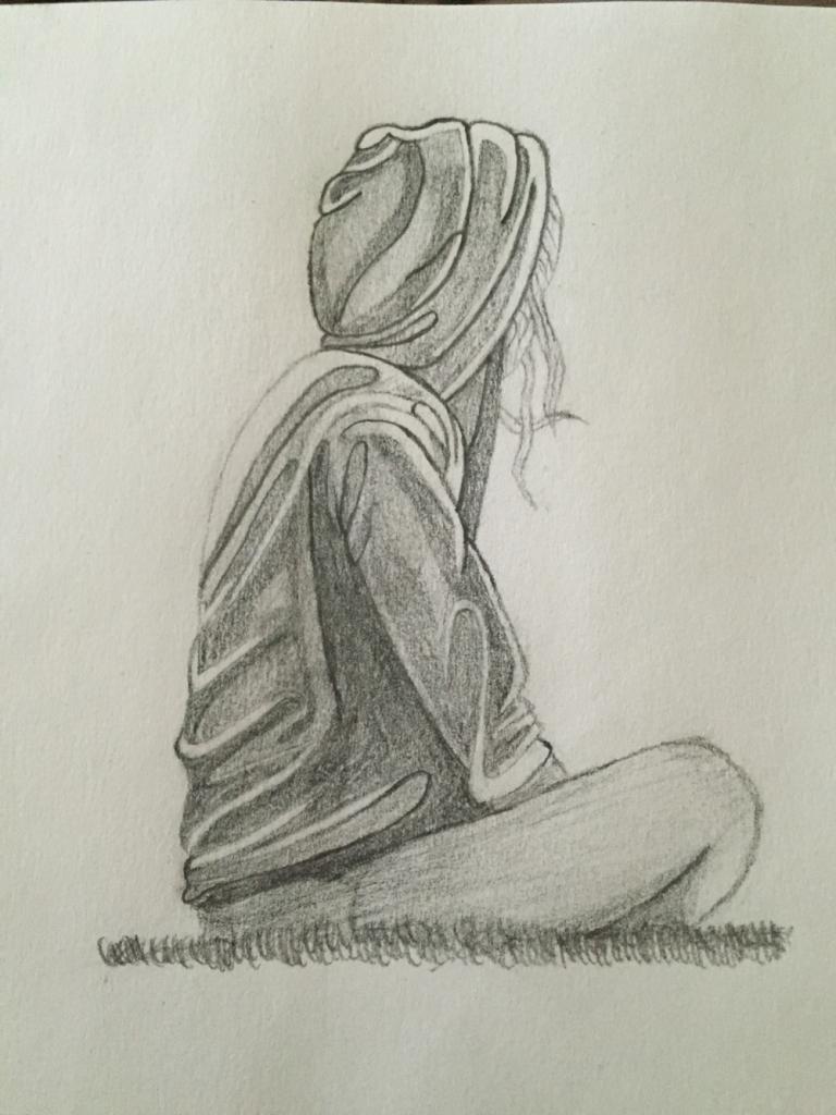 768x1024 Sad Alone Profile Pictures Pencils Draw