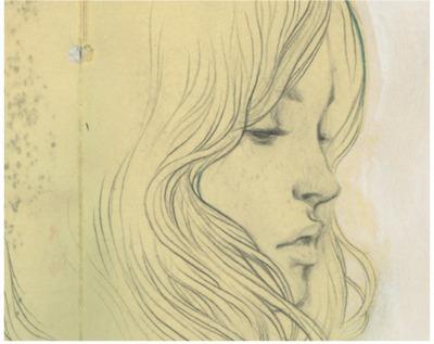 400x317 Art, Drawing, Girl, Profile