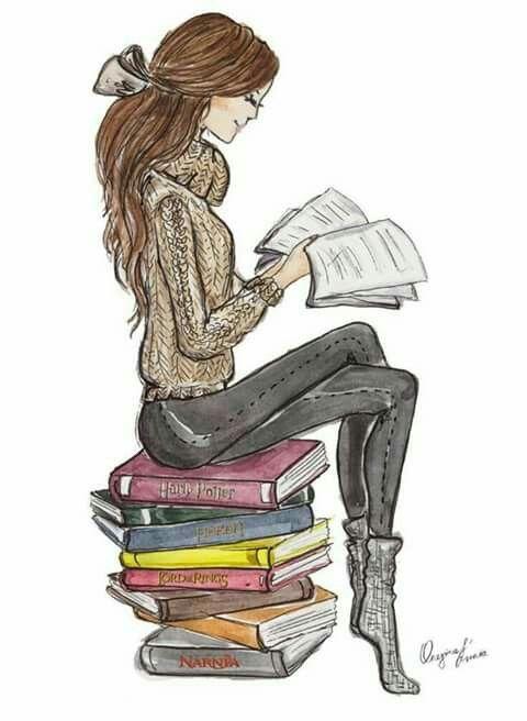 Girl Reading Book Drawing At GetDrawings.com | Free For Personal Use Girl Reading Book Drawing ...